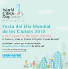 """Actividad """"Día Mundial de las Ciudades"""". Barcelona sant antoni"""
