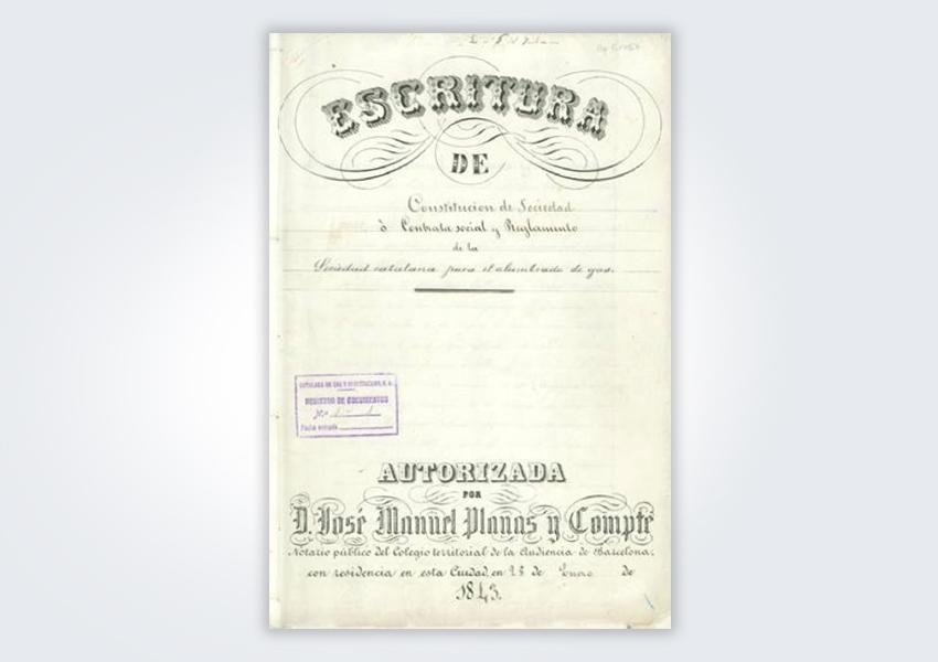 escritura de constitucion Catalana de Gas