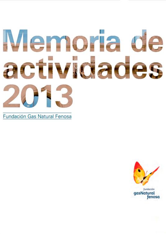 Memoria de actividades Fundación Naturgy 2013