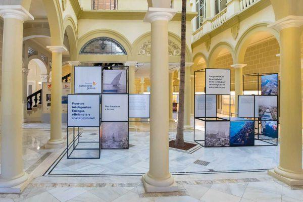 Exposición Fundación Naturgy Puertos Inteligentes Energía eficiencia y sostenibilidad