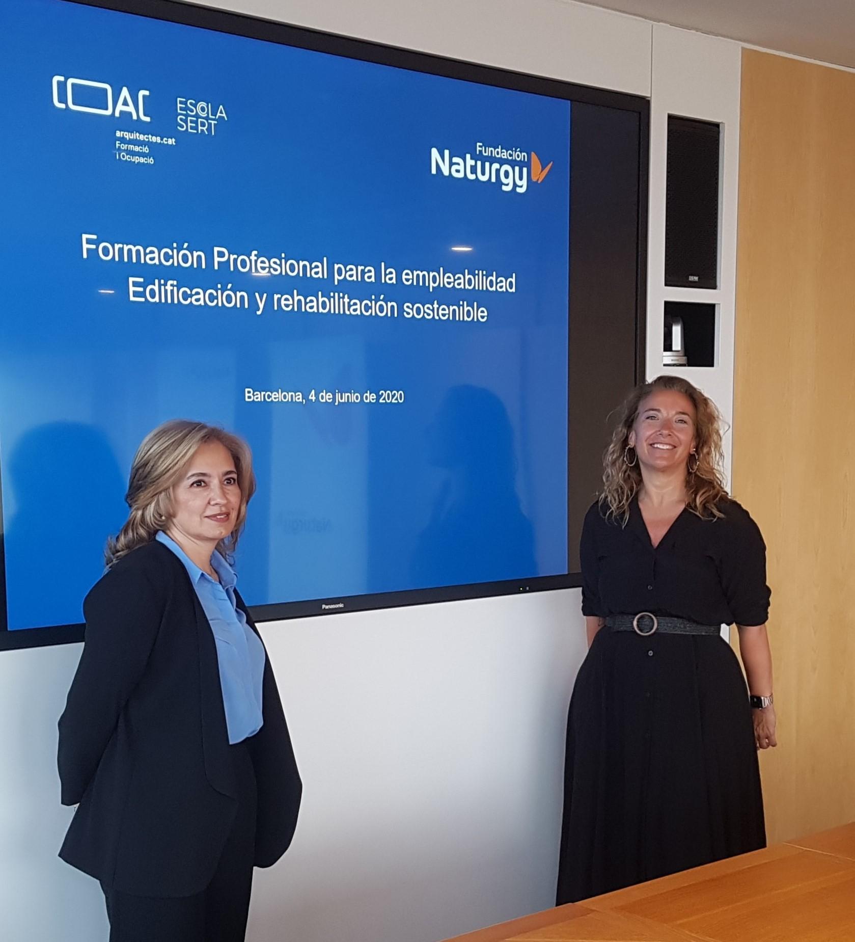 Firma convenio Fundación Naturgy-COAC